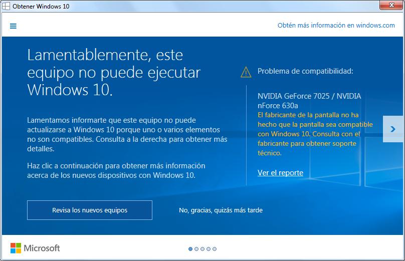NVIDIA problema de compatibilidad Windows 10 (Solución