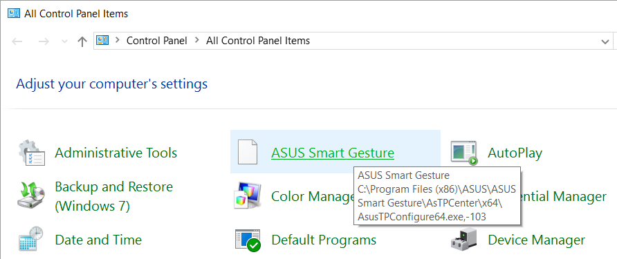 ASUS Smart Gesture problem with Windows Installer - Ivan Ridao Freitas